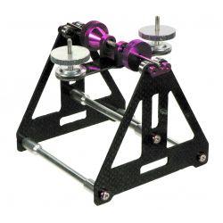 Equilibrador para helices y palas helicoptero en carbono con 6 rodamientos