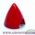 Cono Spinner Nylon con placa de fondo aluminio aligerado 51mm Red