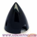 Cono Spinner Nylon con placa de fondo aluminio aligerado 57mm Black